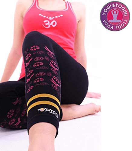 Yogamasti Damen Yoga Seamless Hatha Capri schwarz UK (12-14) Damen-seamless-capri