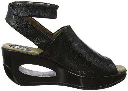FLY London Hini892, Sandales Bride Cheville wedge Femme Noir (black 000)