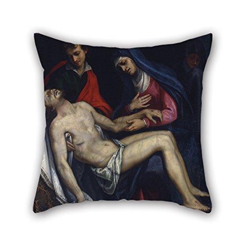 """bestseason Ölgemälde Ludovico Ciardi bekannt als """"Ludovico Cigoli–pietã mit Heiligen Johannes der Evangelist und die unbarmherzigen Kissenbezug 40,6x 40,6cm/40von 40cm Geschenk oder Decor für Festival, Kaffee Haus"""