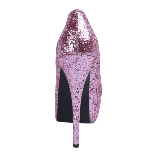 Bordello, Mary Jane basse donna Rosa (baby pink glitter)