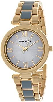ساعة انالوج بحركة كوارتز وسوار من الستانلس ستيل للنساء من ان كلاين، طراز AK3040LBGB