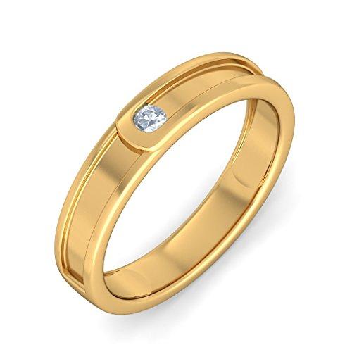 BlueStone 14k Yellow Gold and Diamond Clasped Ring