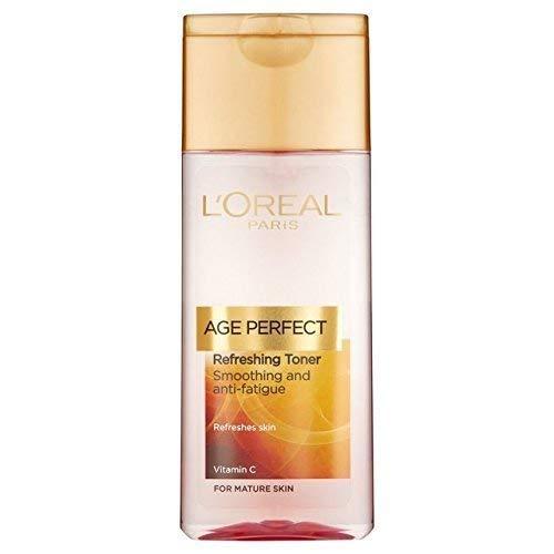 L'Oréal Age Perfect Refreshing Toner Glättung und Anti-Fatigue für die reife Haut 200 ml (Packung mit 2 - (Verpackung können variieren) -