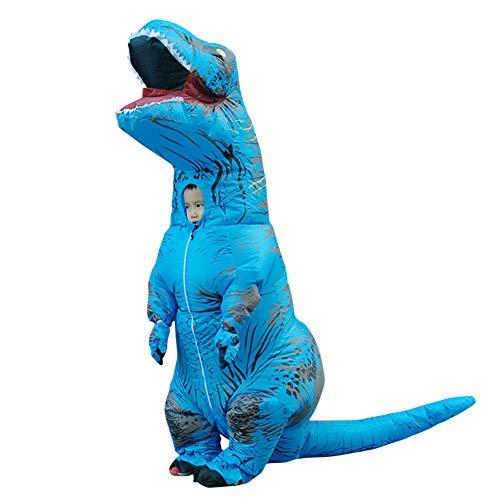 T-REX Aufblasbares Dinosaurier-Kostüm für Kinder – Aufblasbares Halloween-Kostüm für Kleinkinder blau