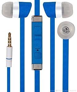 Jkobi Premier Headphones Earphones Handsfree Headset 3.5 mm Jack with Mic Compatible For Lava Iris X5 4G -Blue