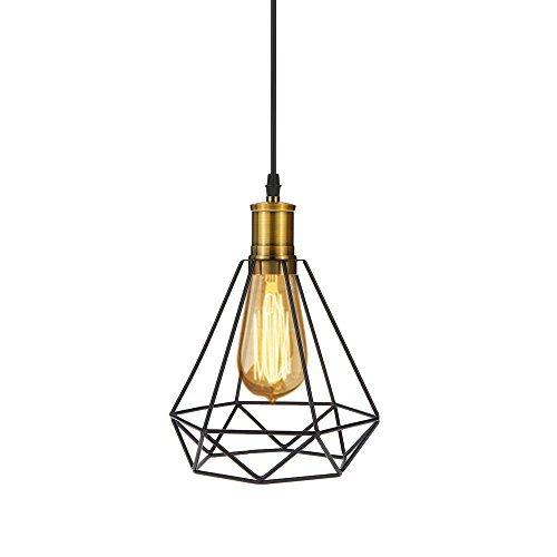 Tomshine LED Hängeleuchte Vintage Kupfer Pendelleuchte Industrial E27 Retro Deckenleuchte Loft Lampe für Wohnzimmer Esszimmer