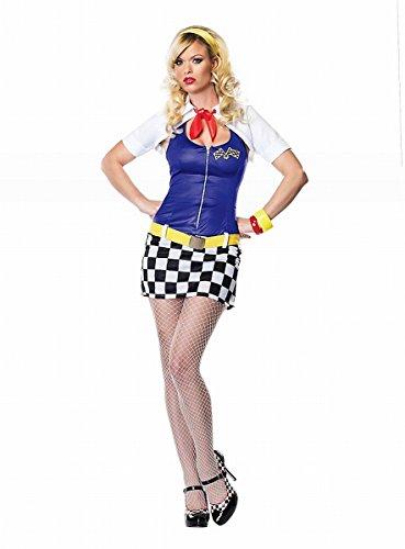Leg Avenue - Rennfahrerin Kleid - Gr. L - - Leg Avenue Racer Kostüm