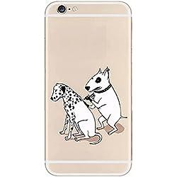 SecondDromi Netter tätowierter Hund und Tätowierungs-Hundemuster-Silikon hülle für iphone 5S,für iPhone SE,Weiß