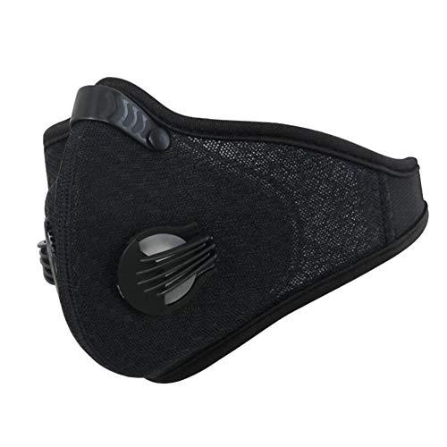 Sddlng Radfahren Maske, einfarbig staubdicht reitmaske, Filter Liner Outdoor reitzubehör,Black
