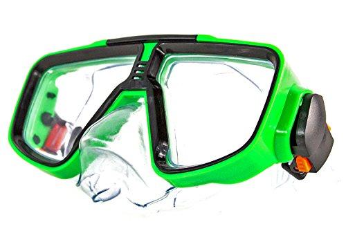 Kinder Taucherbrille neonrot grün blau sortiert Schwimm-Brille Schwimm-Zubehör Pool Planschbecken (Kinder Taucher Kostüm)