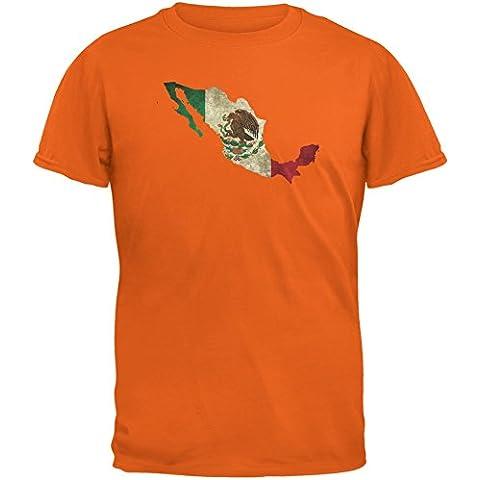 Cinco de Mayo–Mexico silueta naranja adulto camiseta