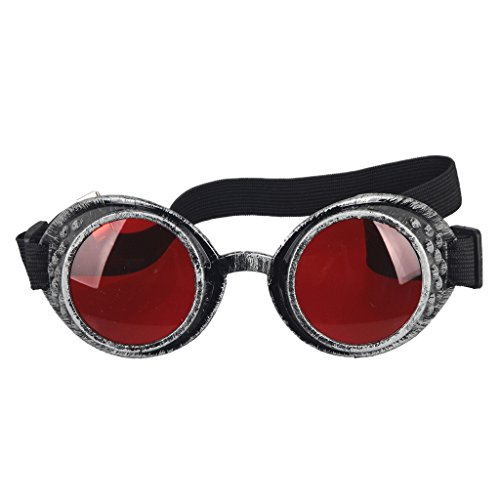 Steampunk Goggles Welding Punk Vintage Brille Cosplay (Horse Racing Brille)