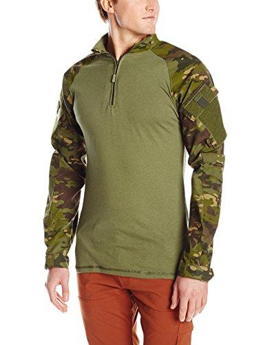 Tru Spec Olive Drab (Tru-Spec Herren TRU 1/4Zip Combat Shirt, Herren, 2537007, Multicam Tropic/Olive Drab, 2XL Regular)