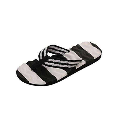 Tongs Femme , Culater® Femme Sandales dété Pantoufles souples pantoufles de plage (38 EU, Noir) Noir