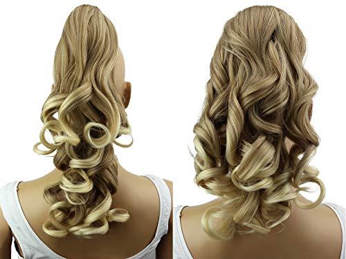 Prettyshop 2 in 1 40cm e 50cm di estensioni dei capelli parrucca coda di cavallo fibre sintetiche ingombranti eresistente al calore bionda mix #27t613 h3-2