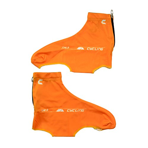 West Herren Damen Biking/staubdicht, windfest Road MTB Lock Überschuhe Schuhüberzieher Orange - orange