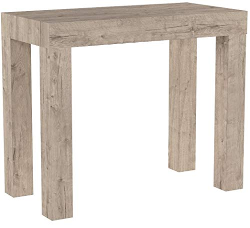 Mobili Fiver, Extendable Console Table First, Oak, 90 x 45 x 76 cm, Made in Italy