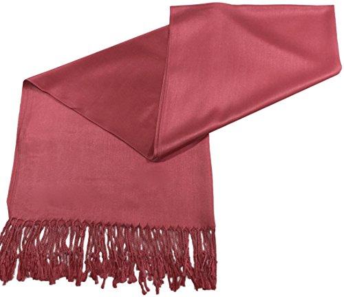 CJ Apparel Französisch Zartrosa Einfarbiges Design Stola Schal Umschlagtuch Schultertuch Tuch
