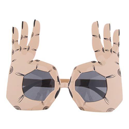 Kostüm Herren Damen Disco OK Geste Brille Partybrille Spaßbrille Karneval Fasching Verkleidungsparty Dress Up ()