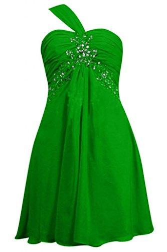 Sunvary elegante A spalle-Line Sweetheart Chiffon Prom abiti da damigella d'onore Verde lime