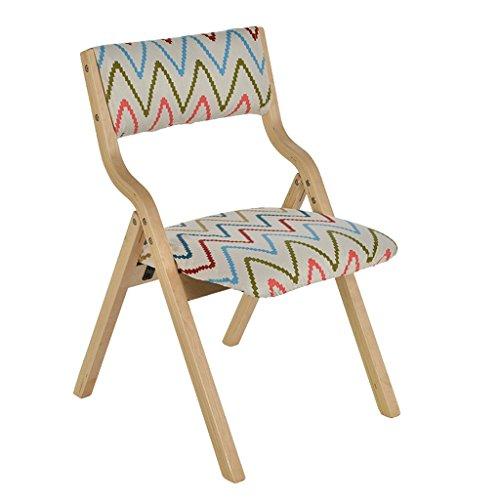 RXL Chaise pliable en bois solide détachable facile à nettoyer Fauteuil de couverture de siège chaise de bar ( Couleur : A )
