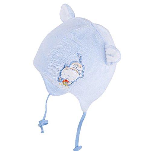 Galeja TuTu by Baby Mütze Jungen Mädchen Mütze 100% Baumwolle Gr. 42/44 Blau Übergangsmütze