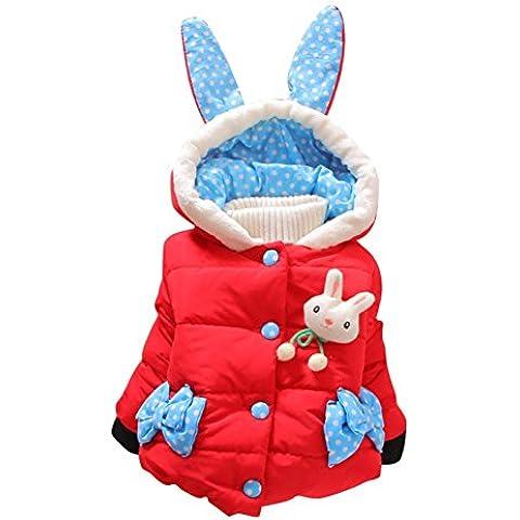 Neonate Bambini inverno caldo del coniglio del cappotto con