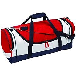 Sporttasche rot Umhängetasche Mehrfarbig Reisetasche strapazierfähig Material 64x27x26cm Schultertasche