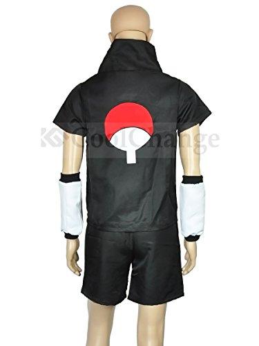 CoolChange Cosplay Kostüm von Sasuke Uchiha (Schwarz, XXL)