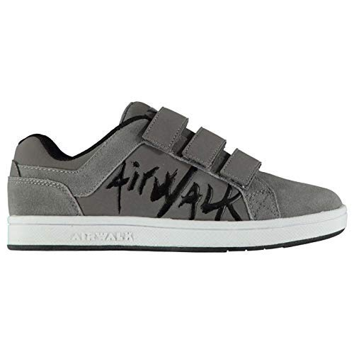 Airwalk Neptun Kind Jungen Skateboard Turnschuhe Schuhwerk - grau, 12 UK Kinder -