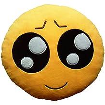 Emoji Emoticono Cojín Almohada Redonda Emoticon Bordado Sonriente-Type E