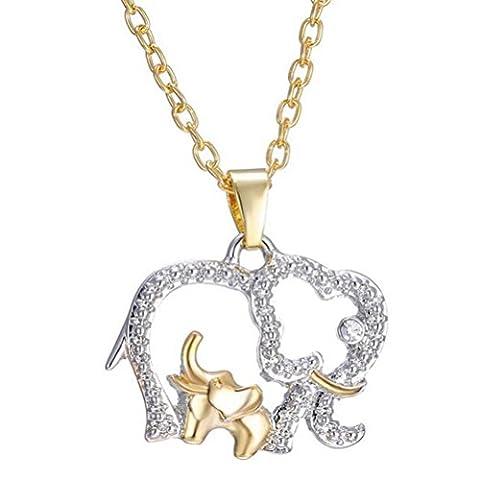 Gudeke Animal Elephant Pendant Necklace Jewelry Mother's Day Gift