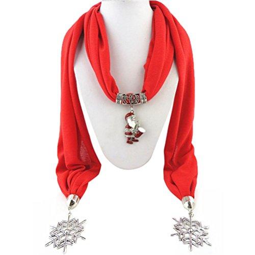 Verziert Baumwolle Top (Mädchen Schals Xmas, Transer® Weihnachten Santas Anhänger Schals mit Quaste Strass Schmuck verziert Baumwolle Schal Schmuck Anhänger Schals für Frauen)