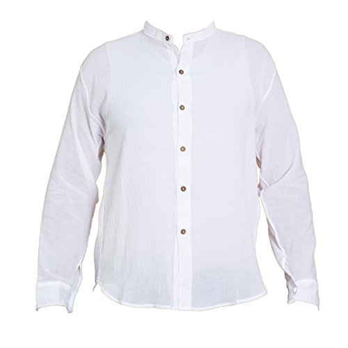 Shirt, K', 6button, white, L, longsleeve