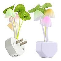 مستشعر رومانسي LED زهرة الفطر ليلة مصباح غرفة النوم ديكور المنزل قابس الولايات المتحدة