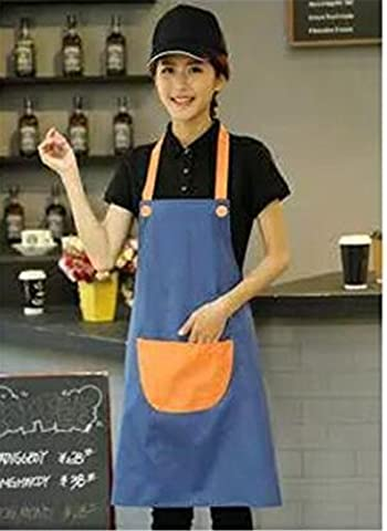 MONEYY Tablier publicitaire, blanc pur, uniforme coréen tablier dacron, 72cm*70cm,H