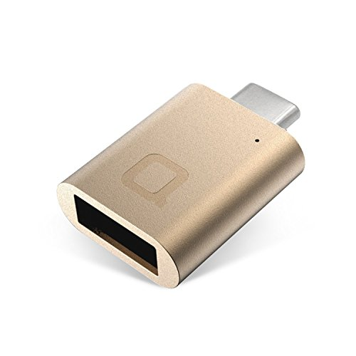 USB-C a USB-A Mini adaptador más pequeño del mundo, diseñado en Alemania - Oro
