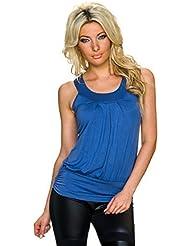Muse Mujer Top de tirantes Tirante Camiseta Top suelto corte liso Top de verano, varios colores