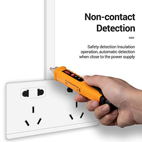 SISHUINIANHUA Spannungsmesser AC DC Detektor NCV Berührungsloser Tester Stift Volt Sensor Elektrischer Teststift 90V bis 1000V Empfindlichkeit Voltmeter