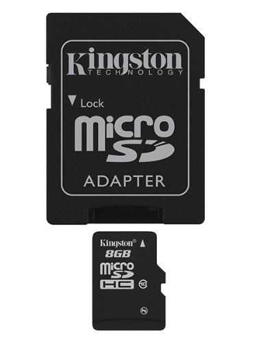 KINGSTON 8GB microSDHC Card Class 10 mit SD Adapter -