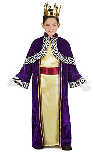 Imagen de disfraz rey mago baltasar talla 10 12