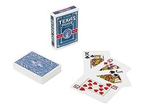 Dal Negro- Código24127- Baraja de Cartas de Poker, Estilo Texas Monkey, Color Azul