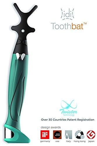 toothbat WOW Zahnseidenhalter für die perfekte Mund- und Zahnreinigung, Interdentalreinigung, Mundhygiene, Gesundheitspflege (Dunkelgrün/Petrol) -