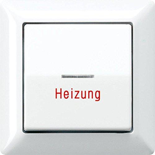 Preisvergleich Produktbild Jung AS 590 H WW Wippe f.Heizungsnotsch. AS500 m.Vollplatte beleuchtbar alpinwei.