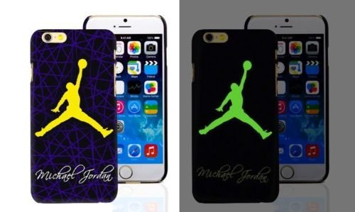Nouvel Air Jordan lumineuse lumineux dans le noir PC Coque rigide pour Apple iPhone 6/6s & 6+/6+ S, Jordan 11, Apple iPhone 6+/6+S Jordan 04