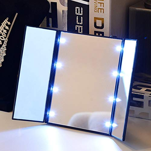 ZHAS Espejo Maquillaje Highlight LED Desktop HD Luces