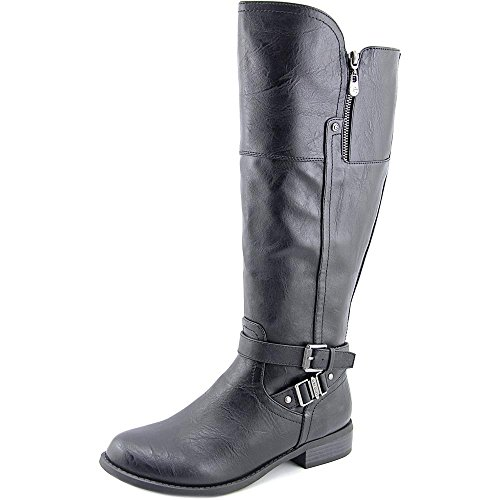 G By Guess Heylo Wide Calf Rund Kunstleder Mode-Knie hoch Stiefel Black Multi