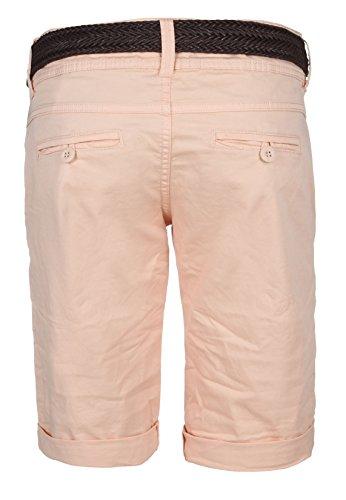 Fresh Made Pantalons d'été bermudas pour les femmes | pantalon court chino avec ceinture tressée | Short de base de l'arbre de laine Orange