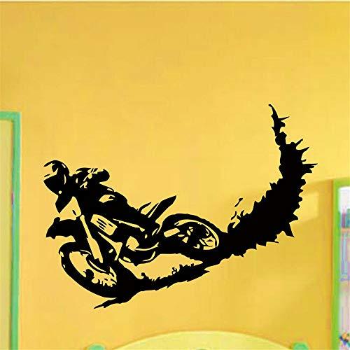 lyclff Wand Vinyl Aufkleber Motocross Dirty Bike Moto Bike Aufkleber Aufkleber Wohnkultur86 * 114 cm