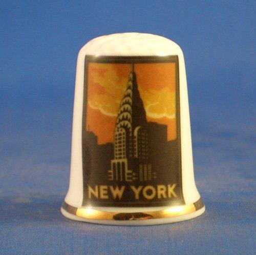 birchcroft Porzellan China zum Sammeln Fingerhut --Poster, reise, Serie-New York